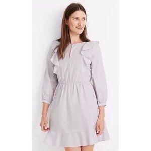 Madewell Ruffled Shoulder Mini Dress